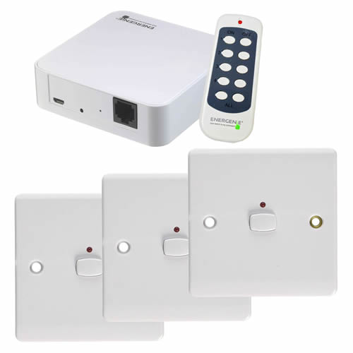 Energenie MIHO050 MiHome 1G Switch Bundle - White