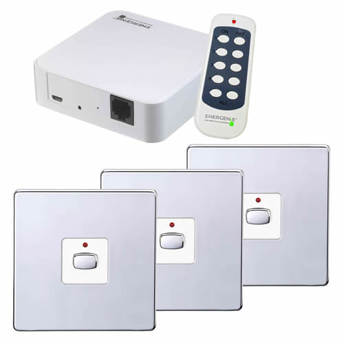 Energenie MIHO052 MiHome 1G Switch Bundle - Chrome