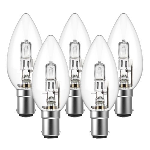 Eveready Eco Candle 46W(60W) B15 Light Bulb - Pack of 5