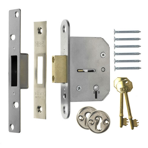 ERA 201-61 ERA Viscount 5 Lever Mortice Deadlock 64mm - Chrome