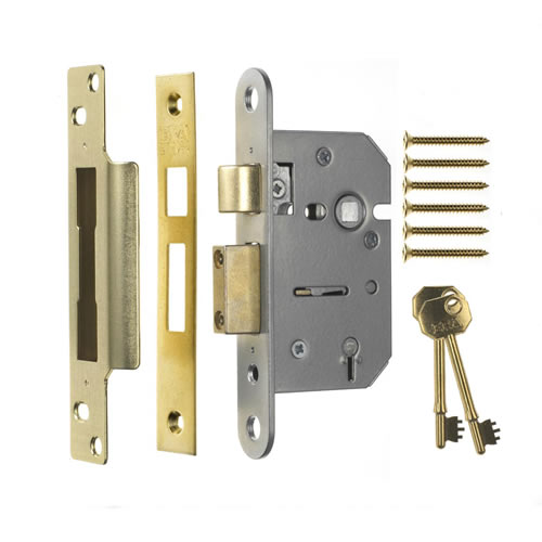 ERA 202-31 ERA Viscount 5 Lever Mortice Sashlock 64mm - Brass