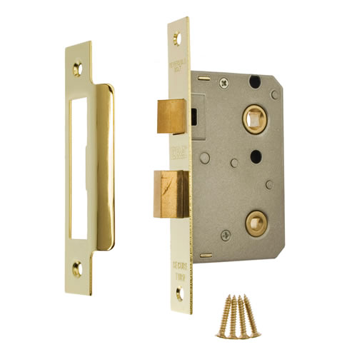 ERA 243-31 ERA Bathroom Sashlock 64mm - Brass