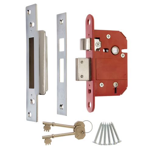 ERA 262-61 ERA BS High Security Fortress 5 Lever Sashlock 64mm - Chrome