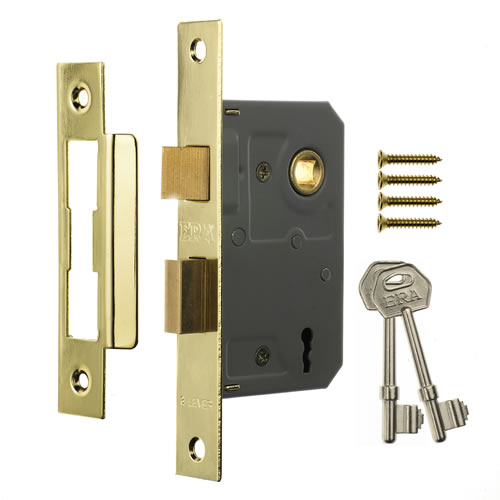 ERA 473-31 ERA 3 Lever Sashlock 64mm - Brass