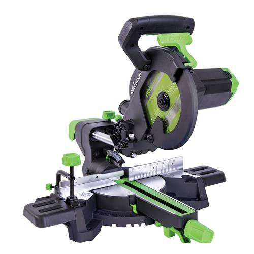 Evolution 048-0006 F210SMS Multi-Material Sliding Mitre Saw, 210 mm (230v)