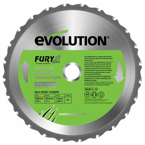 Evolution FURYBLADE255MULTI Evolution FURY5 255mm Multipurpose Blade