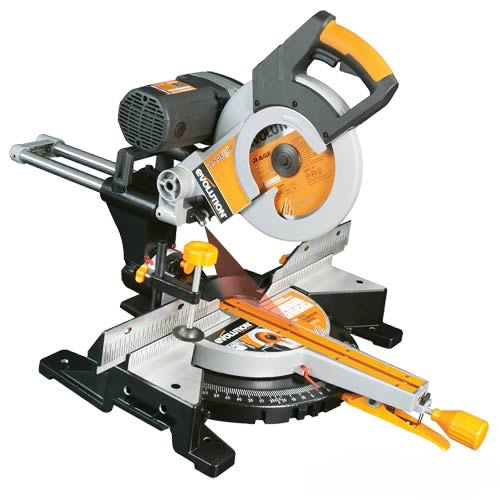 miter saw labeled. evolution rage3db rage 3-db 255mm double bevel multipurpose slide mitre saw miter labeled