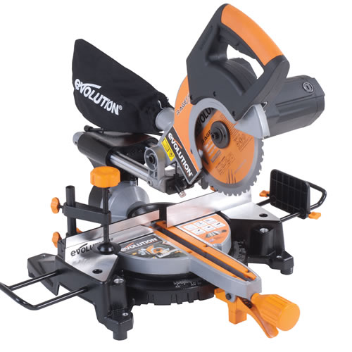 Evolution RAGE 3S PLUS Evolution 210mm Multipurpose Sliding Mitre Saw