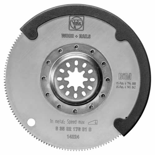 Fein 63502176020 Fein 100mm HSS Saw Blade for Wood with Depth Stop