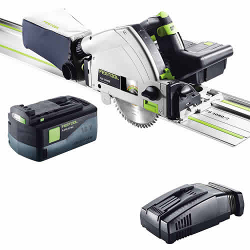 Festool TSC 55 Li 5,2 REB-Set-FS GB Festool AirSteam 18v 55mm Circular Plunge Saw + 1 x Rail