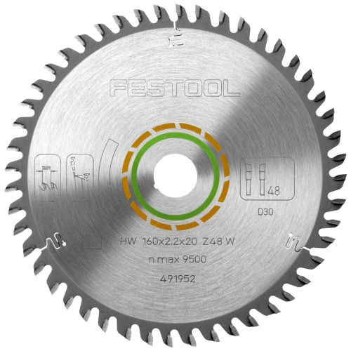 Festool 491952 Festool 160mm 48 Tooth Saw Blade