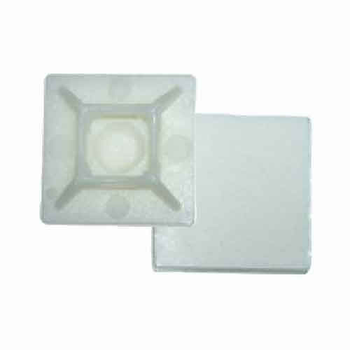 Greenbrook 27/27 27mm x 27mm Self Adhesive Base For Cable Ties (Clear) - Pack of 100