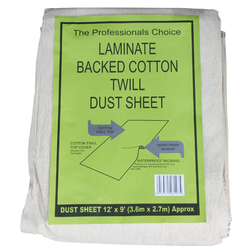 Professional LAMBACK Laminated Twill Dust Sheet (12ft x 9ft)
