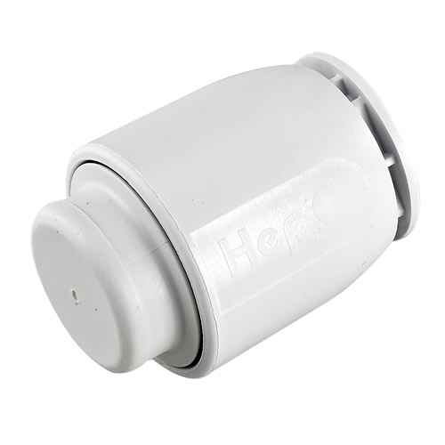 Hep20 HD62/15W Hep2o 15mm Demountable Stop End Cap White