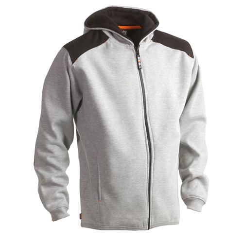 Juno Zipped Hoodie - Heather Grey