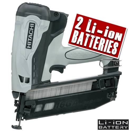 Hitachi NT65GB Hitachi Cordless Angled Finishing Nailer