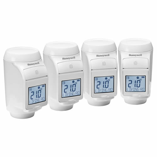 Honeywell THR0924HRT Honeywell Electronic RF TRV - Pack of 4