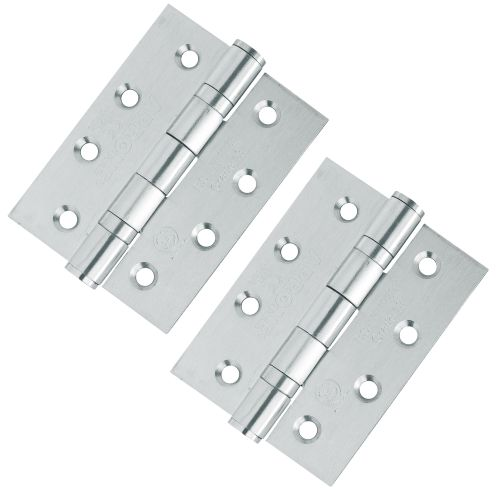 Hoppe 2x Ball Bearing Hinges 102 x 76mm - Stainless Steel