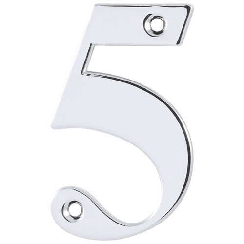 Hoppe 87143680 Door Number 5 - Polished Chrome