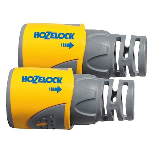 Hozelock 2050 Hose End Connector Plus for 12.5-15mm (1/2-5/8in) Hose Twin Pack