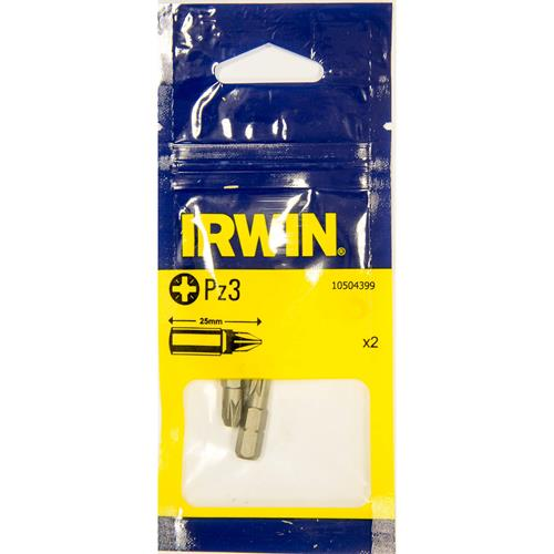 Irwin 10504399 Irwin PZ3 25mm Screwdriver Bits - Pack of 2