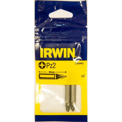Irwin PZ2 25mm Screwdriver Bits - Pack of 2
