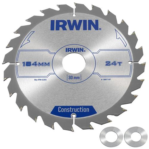 Irwin 1897197 Circular Saw Blade - 184mm/24T