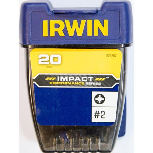 Irwin 1923357 Irwin PZ2 25mm Impact Screwdriver Bits - Pack of 20