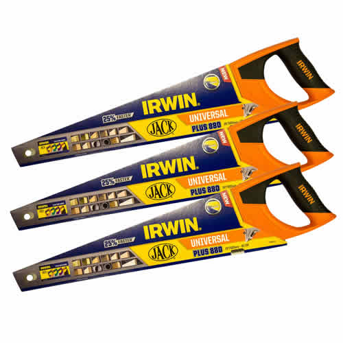 Irwin 10505212PK3 Jack 880 Plus Universal Handsaw 500mm/20'' - Pack of 3