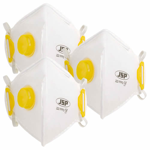 JSP BEB120-101-000 JSP OLYMPUS FoldFlat Disposable Dust Mask FFP2- Valved PK3