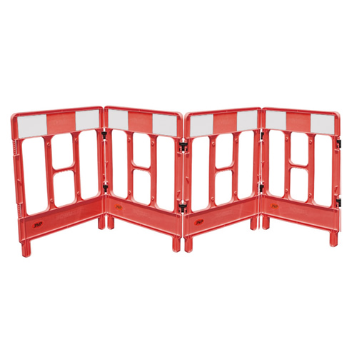 JSP KBC023-000-600 JSP Workgate 4 Gate Red c/w Reflective Panel