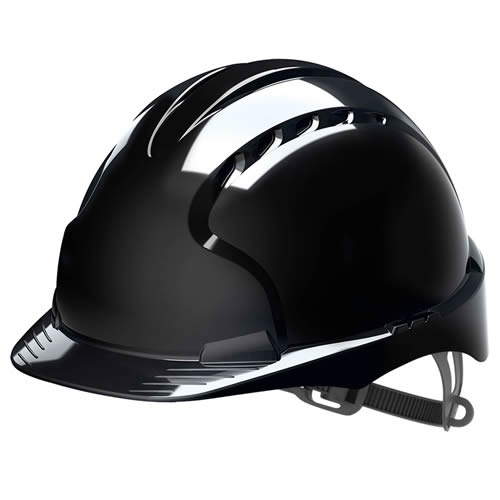 JSP AJF030-001-100 EVO2 JSP EVO2 Safety Helmet Vented with Slip Ratchet (Black)