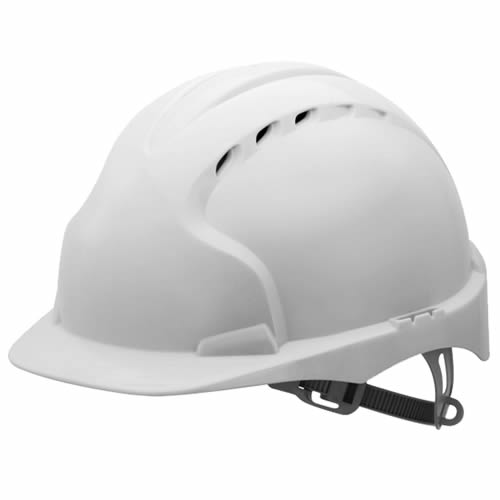 JSP EVO2W JSP EVO2 Safety Helmet, Vented with Slip Ratchet (White)