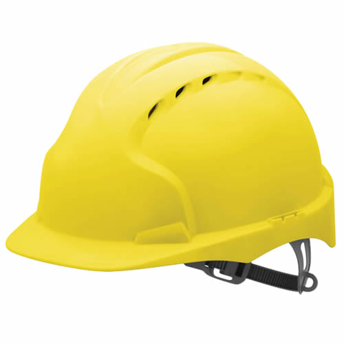 JSP EVO2Y JSP EVO2 Safety Helmet, Vented with Slip Ratchet (Yellow)