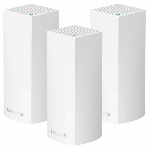 Linksys WHW0303-UK AC2200 Simultaneous Tri-Band Mesh WiFi Router/System 3 Pack