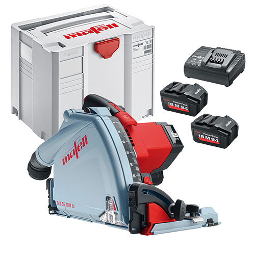 Mafell MT5518MBL 18V 57mm Plunge Saw with 2 x 5.5Ah Batteries, Charger and Case
