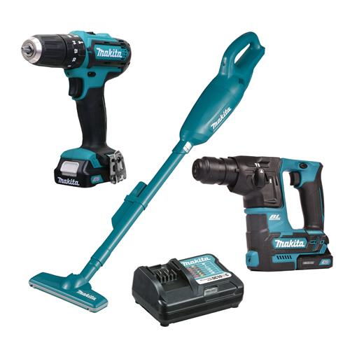 Makita 108PK1 10.8v CXT 3 Piece Pack with 2 x 1.5Ah Batteries and Charger