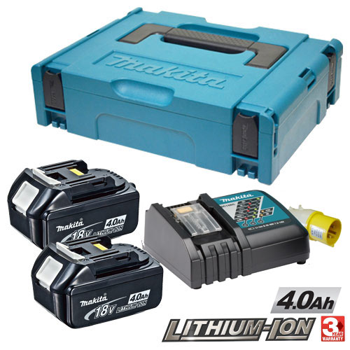 Makita POWER4 (110v) Makita 18V 4.0Ah Power Pack (110v Charger)