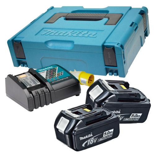 Makita POWER5 (110v) Makita 18V 5.0Ah Power Pack (110v Charger)