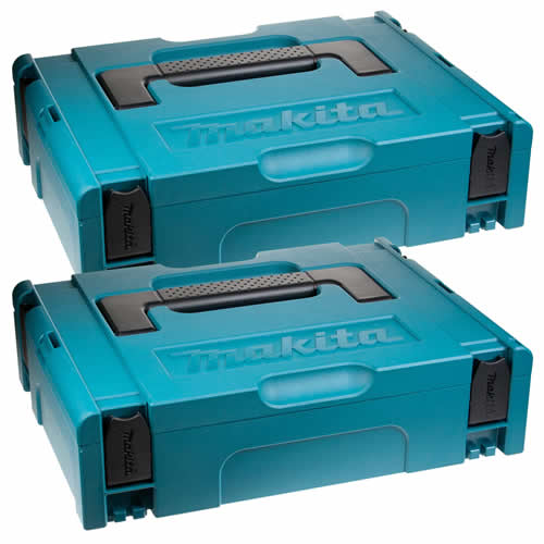 Makita 1427706PK2 Makita Small Stackable Case Twinpack (396 x 296 x 105mm)