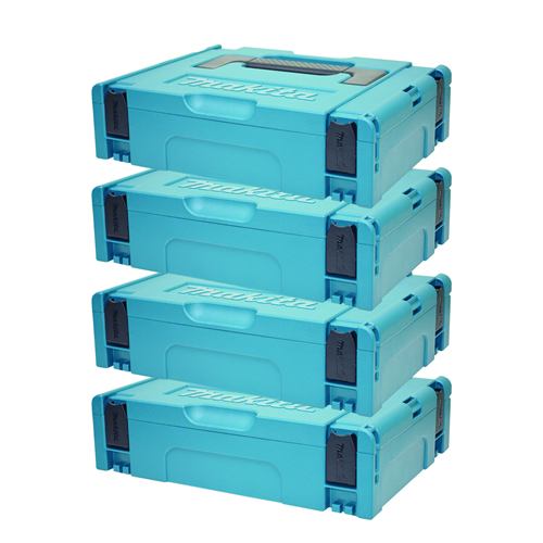 Makita 1427706PK4 Small MakPac Stackable Case (396 x 296 105mm) - Pack of 4