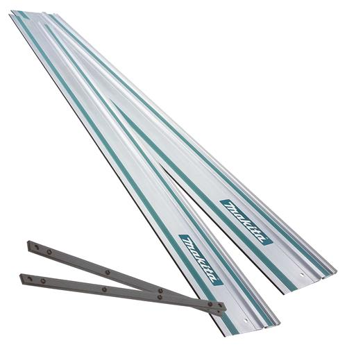 Makita 1991418PK2K 2 x 1.5m Guide Rails and Connector Piece Pack