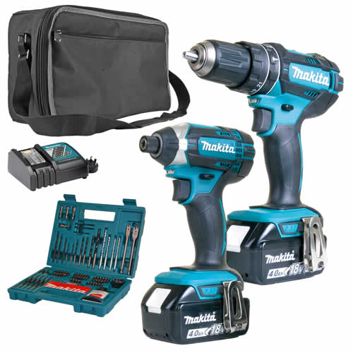 Makita 2SETMJ Makita 18v Li-ion 4.0Ah 2 Piece Kit