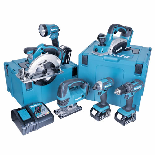 Makita 6GTJ Makita 18v Li-ion 5.0Ah 6 Piece Kit