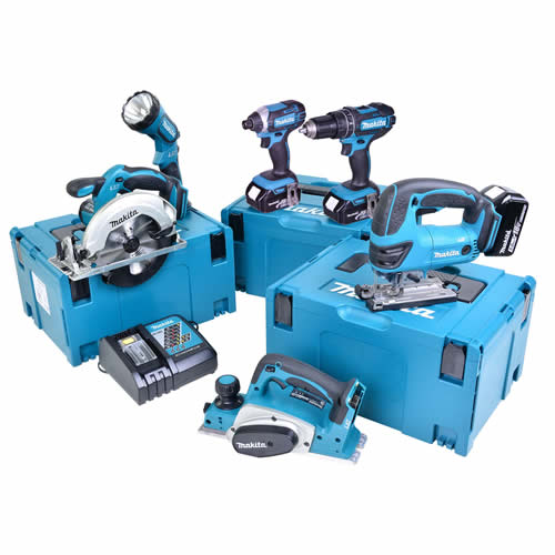 Makita 6HTJ Makita 18v Li-ion 5.0Ah 6 Piece Kit