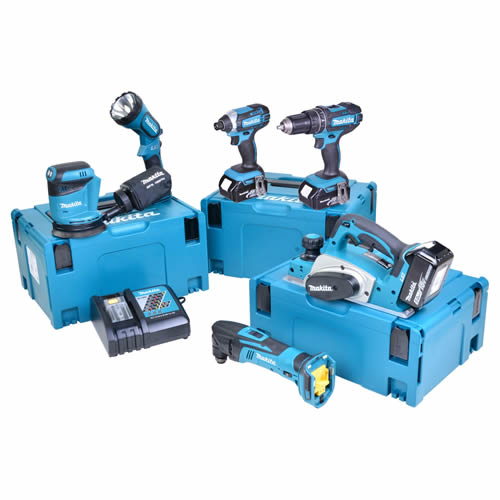 Makita 6NTJ Makita 18v Li-ion 5.0Ah 6 Piece Kit