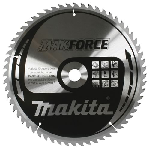 Makita B-08486 Makita 190mm 40 Tooth 'MAKFORCE' TCT Circular Saw Blade