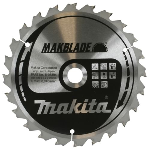 Makita B-08903 216mm 24 Tooth 'MAKBLADE' TCT Circular Saw Blade