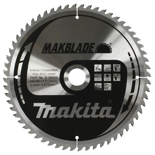 Makita B-09086 Makita 305mm 80 Tooth 'MAKBLADE' TCT Circular Saw Blade