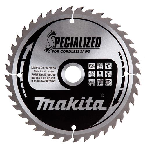 Makita B-09232 Makita 165mm 40 Tooth Blade
